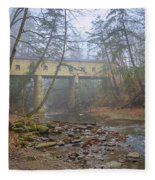 Warner Hollow Rd Covered Bridge Fleece Blanket