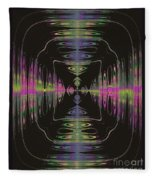 Warping Neon Fleece Blanket