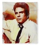 Warren Beatty, Vintage Movie Star Fleece Blanket