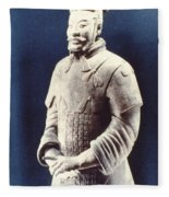 Warrior Of The Terracotta Army Fleece Blanket