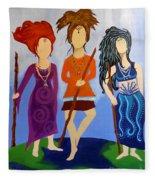 Warrior Woman Sisterhood Fleece Blanket