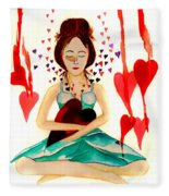 Warrior Woman - Tend To Your Heart Fleece Blanket