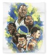 Warriors Fleece Blanket