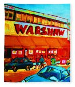 Warshaws Fruitstore On Main Street Fleece Blanket