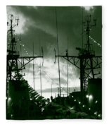 Warships At Twilight Fleece Blanket