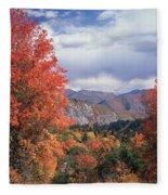 212m45-wasatch Mountains In Autumn  Fleece Blanket
