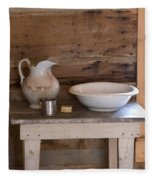 Wash Bowl Pitcher And Cup Fleece Blanket