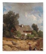 Washerwomen By The River Fleece Blanket