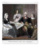 Washington And His Family Fleece Blanket