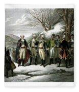 Washington And His Generals  Fleece Blanket
