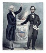 Washington And Lincoln Fleece Blanket
