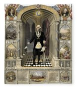 Washington As A Freemason Fleece Blanket