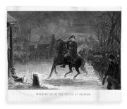 Washington At The Battle Of Trenton Fleece Blanket