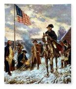 Washington At Valley Forge Fleece Blanket