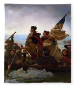 Washington Crossing The Delaware Painting - Emanuel Gottlieb Leutze Fleece Blanket