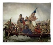 Washington Crossing The Delaware River Fleece Blanket