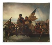 Washington Crossing The Delaware Fleece Blanket