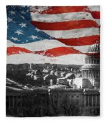 Washington Dc 56t Fleece Blanket