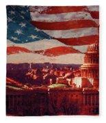Washington Dc Building 76h Fleece Blanket