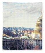Washington Dc Building 9i8 Fleece Blanket