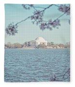 Washington Dc In Spring Fleece Blanket
