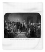 Washington Delivering His Inaugural Address Fleece Blanket
