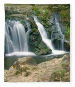 Washington Falls 3 Fleece Blanket