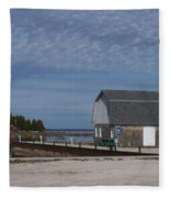 Washington Island Harbor 1 Fleece Blanket