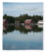 Washington Island Harbor 5 Fleece Blanket
