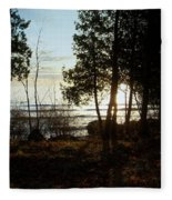 Washington Island Morning 3 Fleece Blanket