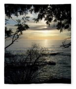 Washington Island Morning 4 Fleece Blanket