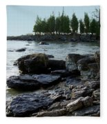 Washington Island Shore 1 Fleece Blanket