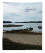 Washington Island Shore 2 Fleece Blanket