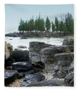 Washington Island Shore 3 Fleece Blanket