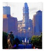 Washington Looking Over To City Hall Fleece Blanket