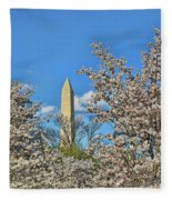 Washington Monument # 11 Fleece Blanket