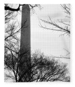Washington Monument Bw Fleece Blanket