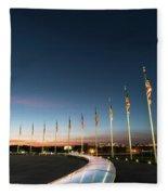 Washington Monument Flags Fleece Blanket