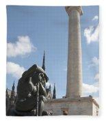 Washington Monument In Baltimore Fleece Blanket