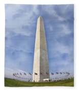 Washington Monument  Fleece Blanket