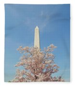 Washington Mounument Fleece Blanket