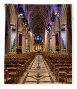 Washington National Cathedral Interior Fleece Blanket