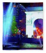 Washington Square Fountain 13c Fleece Blanket