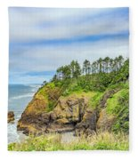 Washington State Coastline Fleece Blanket