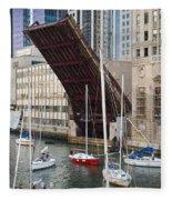 Washington Street Bridge Lift Chicago Fleece Blanket