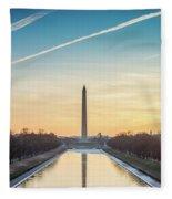 Washington Sunrise Fleece Blanket