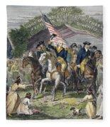 Washington: Trenton, 1789 Fleece Blanket