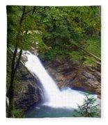 Washngton Falls1 Fleece Blanket