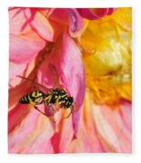 Wasp And Flower Fleece Blanket