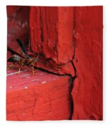 Wasp And Red Fleece Blanket